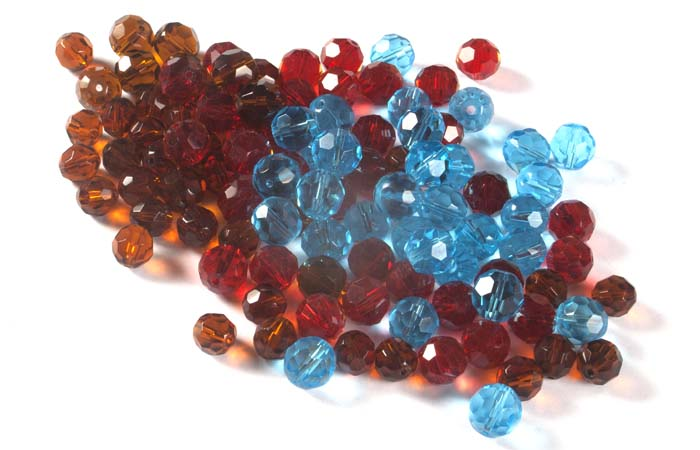 Crystal Faceted Round Beads