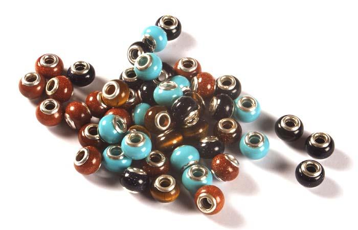 Pandora Style Gemstone Beads