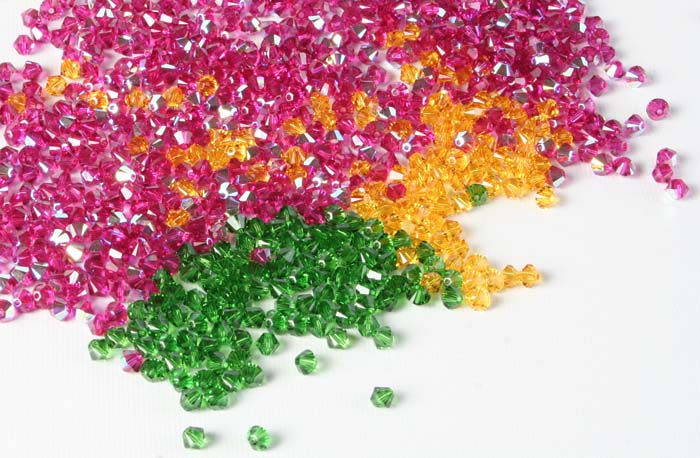 Crystal Faceted Bicone Beads