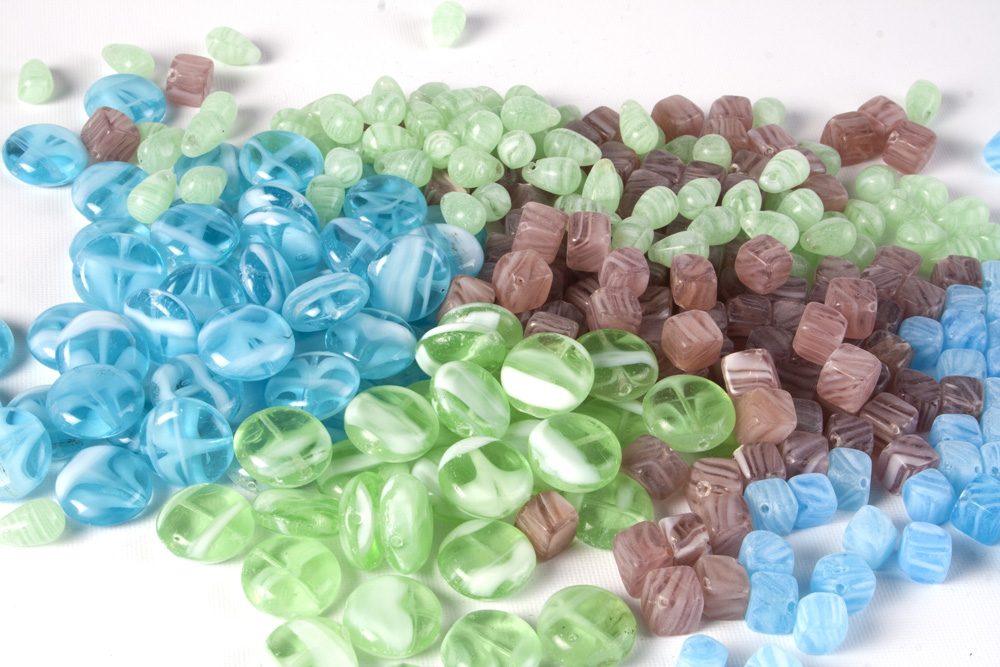 Glass Pressed Beads