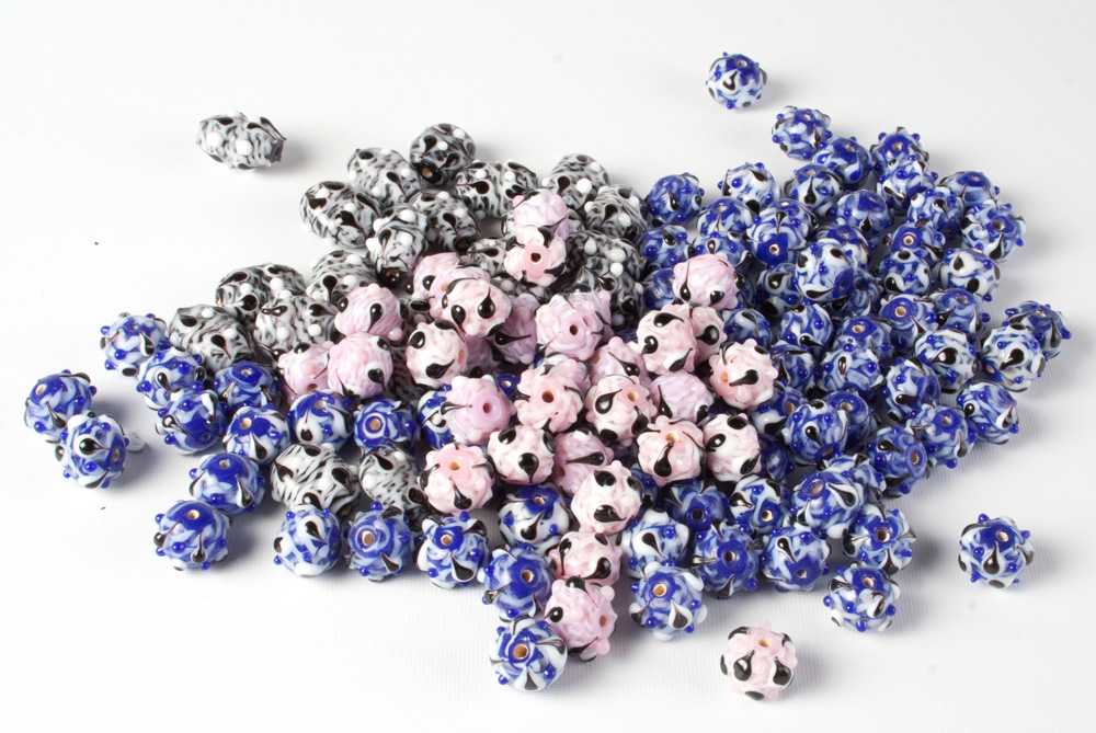Glass Patterned Beads