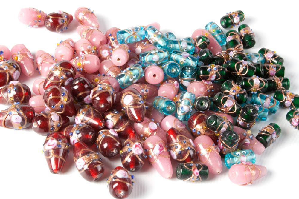 Glass Venetian Style Beads