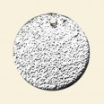 Silver Plated Flat Shaped Pendant - 25mm