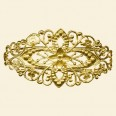 Gold Plated Bangle with Filigree