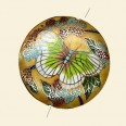 Yellow/Gold Cloisonne Bead - 40mm