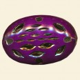 Purple Filigree Flat Oval Bead - 30mm x 20mm