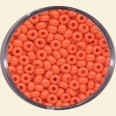 Orange Glass Rocailles (Opaque Colours) - Packs of 8/0 Larger