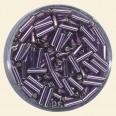 Purple Glass Bugles - Packs of 8mm x 2mm