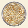 Gold Glass Bugles - Packs of 8mm x 2mm