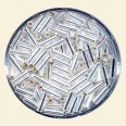Silver Glass Bugles - Packs of 8mm x 2mm