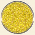 Yellow Glass Rocailles (Silver Lined) - Packs of 11/0 Small