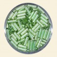 Green Glass Bugles - Packs of 8mm x 2mm