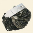 Black Glass Seed Bead Strings