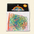 Transparent Neon Loom Band Pack - 200pcs
