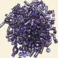 Purple Pewter Beads - Mixed Sizes - Pack of 50g