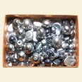 Grey Czech Mixed Glass Pearls - 50 Gram Pack