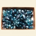 Teal Blue Czech Mixed Glass Pearls - 50 Gram Pack