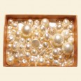 Cream Czech Mixed Glass Pearls - 50 Gram Pack