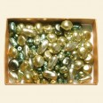 Green Czech Mixed Glass Pearls - 50 Gram Pack