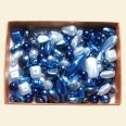 Blue Czech Mixed Glass Pearls - 50 Gram Pack