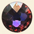 Vitrail Glass Crystal Faceted Disc Pendant - 45mm