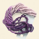 "Purple/Lilac Seed Beads - 15"" String"