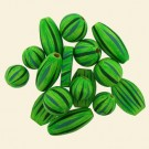 Hand Painted Lime Wood Bead Bag - 100 Gram Pack