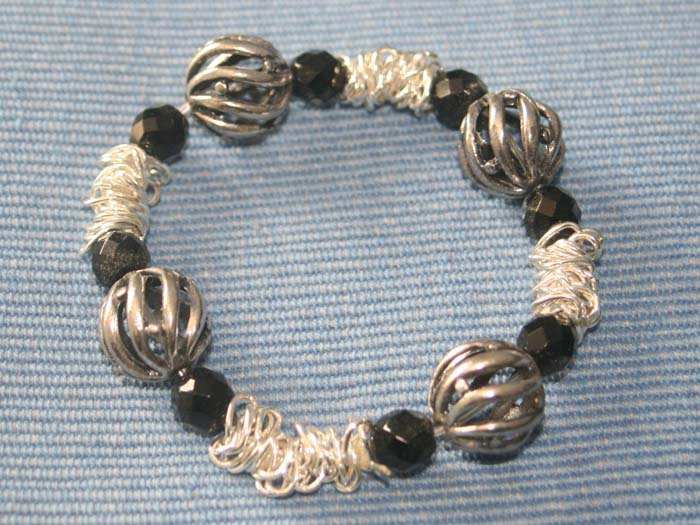 Stretchy Fire Polished Bracelet - Lynda, Manchester