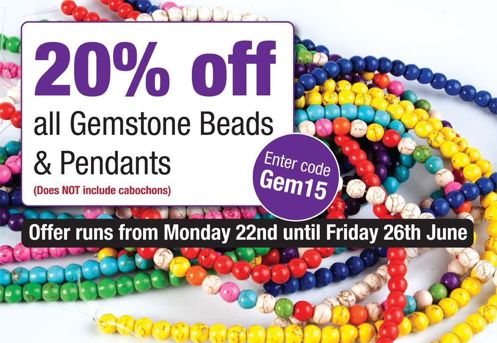 20% off Gemstones