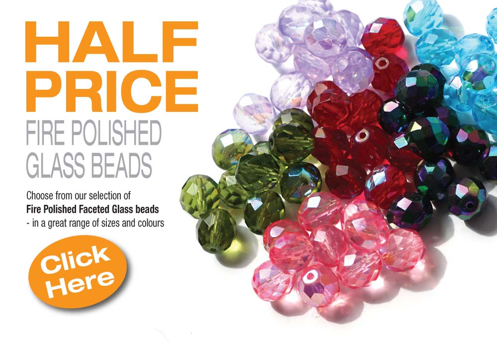 1/2 Price Fire Polished Beads