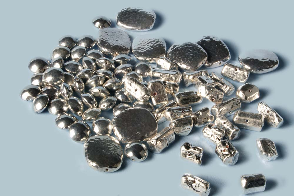 Cyber Silver Beads