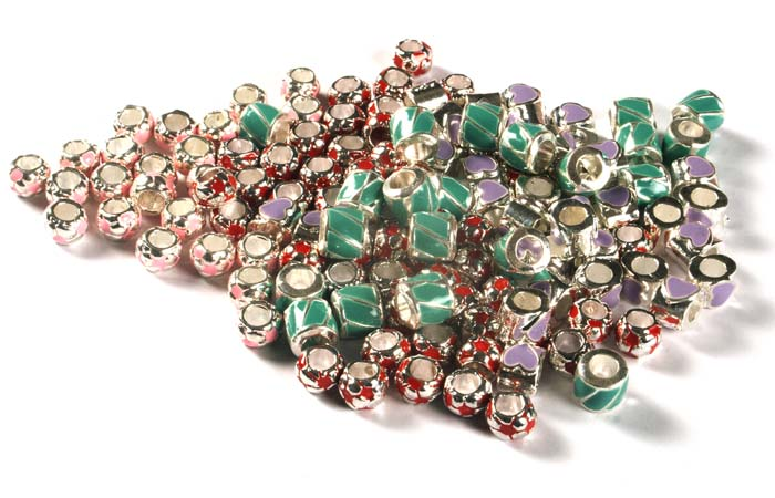 Enamelled Beads