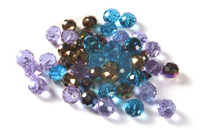 Crystal Faceted Cushion Beads