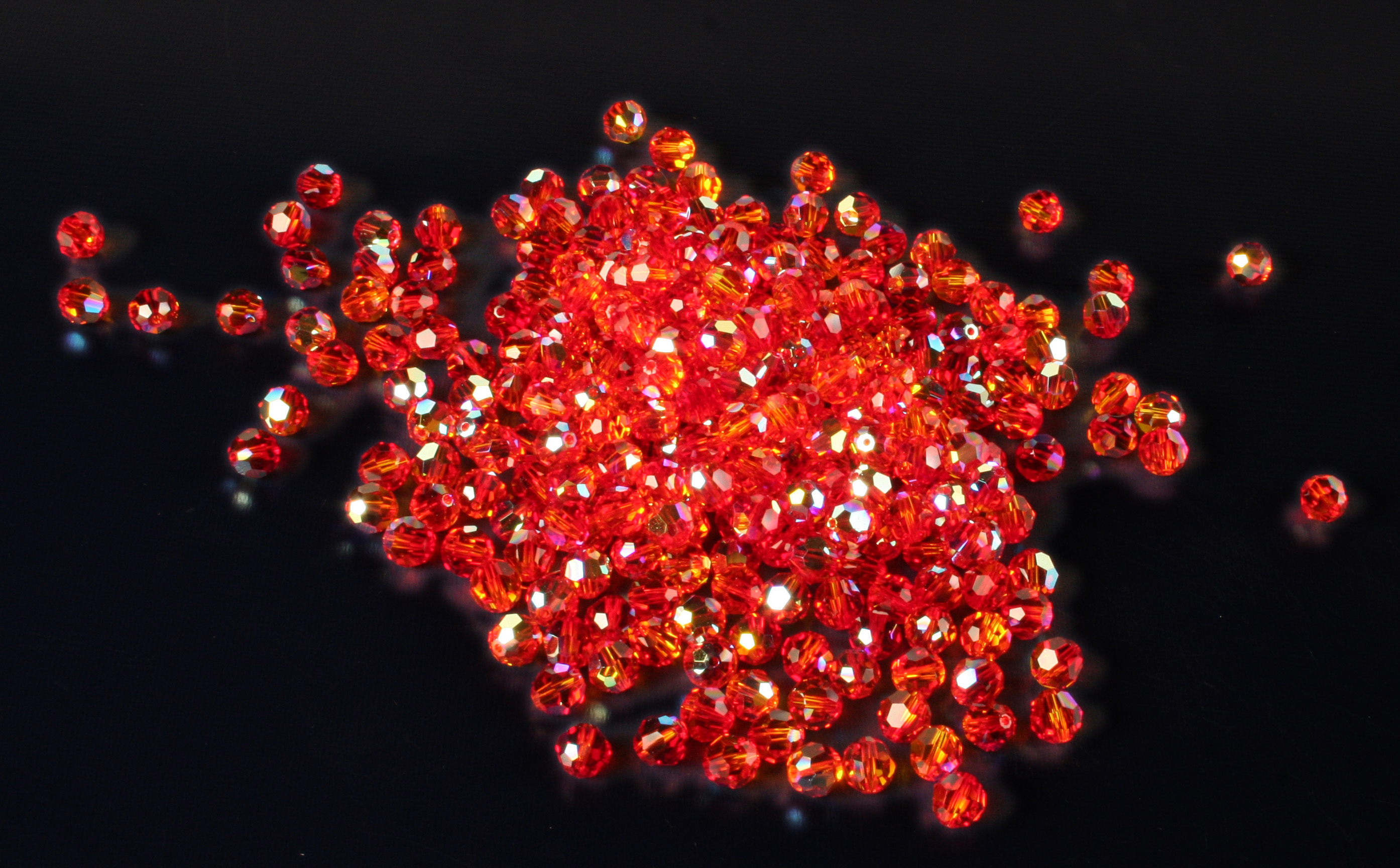 Swarovski Round Faceted Beads