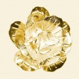 Gold Plated Flower Bead -  30mm - Pack of 10