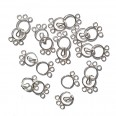 Silver Three String Clasp - 8mm - Pack of 10