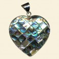 Abalone Shell Pendant - 35mm