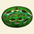 Green Filigree Flat Oval Bead - 30mm x 20mm