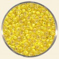 Yellow Glass Rocailles (Silver Lined) - Packs of 8/0 Larger