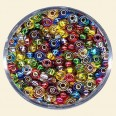 Mixed Colour Glass Rocailles (Silver Lined) - Packs of 8/0 Larger
