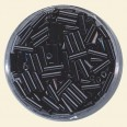 Black Glass Bugles - Packs of 8mm x 2mm
