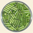 Lime Glass Bugles - Packs of 8mm x 2mm