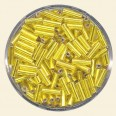 Yellow Glass Bugles - Packs of 8mm x 2mm