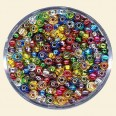 Mixed Colour Glass Rocailles (Silver Lined) - Packs of 11/0 Small