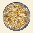 Gold Glass Twisted Bugles - Packs of 8mm x 2mm