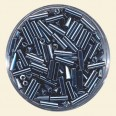 Charcoal Glass Bugles - Packs of 8mm x 2mm