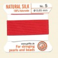 Red 100% Silk Thread and Needle - Pack