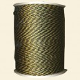 Black/Gold Synthetic Cord - 2mm - Packs