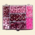 Pink Mixed Beads - Box