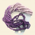 "Purple/Lilac Glass Seed Beads - 15"" String"